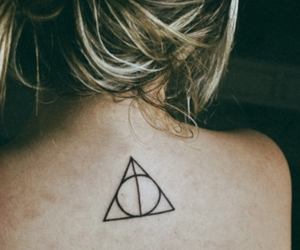 deathly hallows, girl, and tattoo image