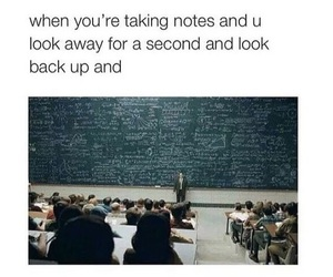 funny, school, and notes image