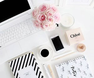 black & white and notebook image