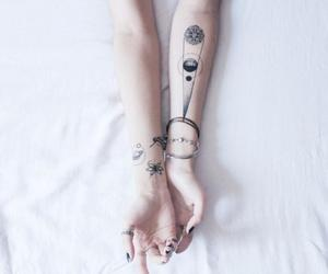 tattoo, hands, and grunge image