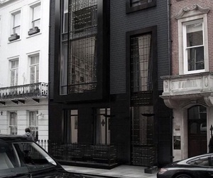 black, house, and architecture image