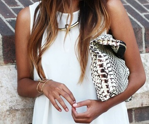 gold, necklace, and jewlery image