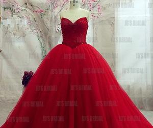 ballgown, reddress, and promgirl image