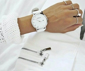 white, fashion, and watch image