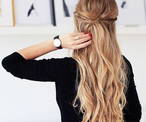 blonde, hairstyle, and hair image