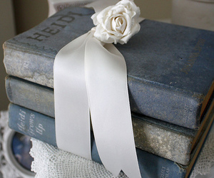 books, blg, and ribbons image