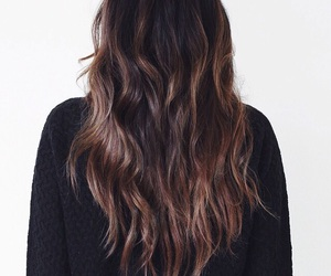 brunette, hair, and tumblr image