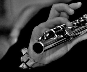 flute, music, and black and white image