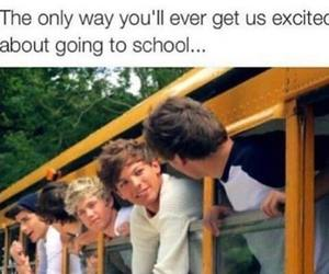 one direction, school, and niall horan image