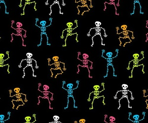 wallpaper, skeleton, and Halloween image