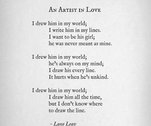 love, Lang Leav, and poem image