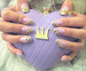 nails, princess, and purple image