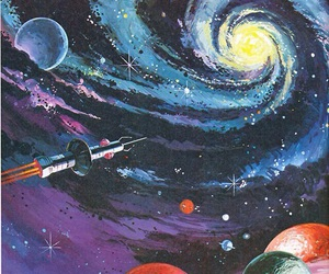 galaxy, space, and art image