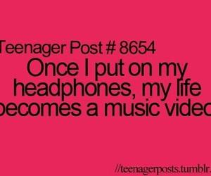 music, teenager post, and headphones image