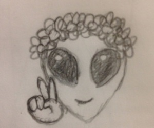 aliens, doodles, and drawing image