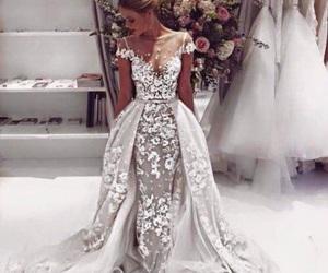 dress, wedding, and georgus image