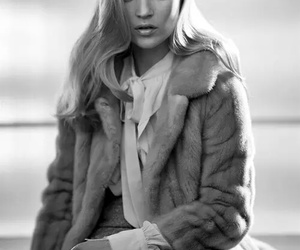 fashion, black and white, and blonde image