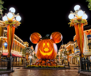 Halloween, disney, and disneyland image