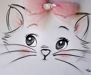 cat, disney, and pink image