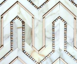 pattern, geometric, and gold image