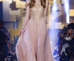dress, elie saab, and fashion week image