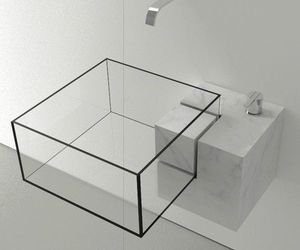 design, white, and bathroom image