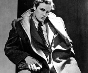 marlon brando, black and white, and actor image