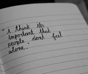 alone, thinking, and writing image