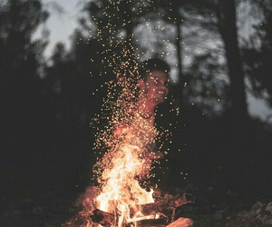 camping, escape, and fire image