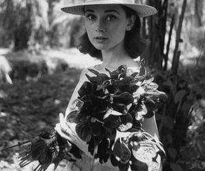 audrey hepburn, black and white, and beautiful image