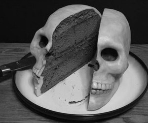 b&w, black and white, and cake image