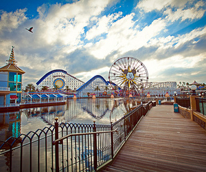 photography, disney, and ferris wheel image