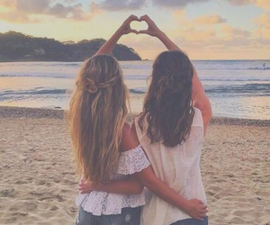 friends, beach, and friendship image
