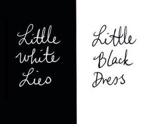 one direction, little black dress, and little white lies image