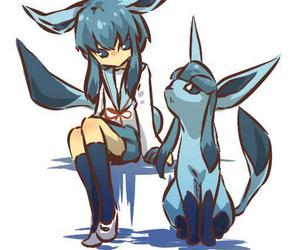 pokemon, glaceon, and anime image