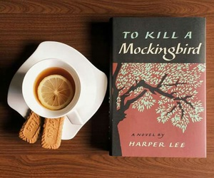 book, tea, and biscuits image