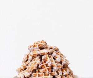 food, waffles, and fresh image
