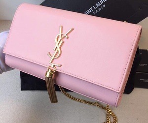 pink, bag, and YSL image