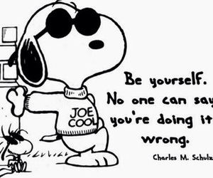 snoopy, be yourself, and quotes image