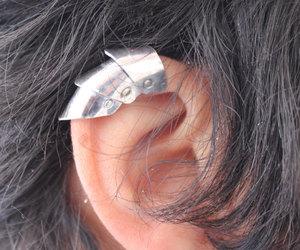 etsy, silver ear cuff, and gothic ear cuff image