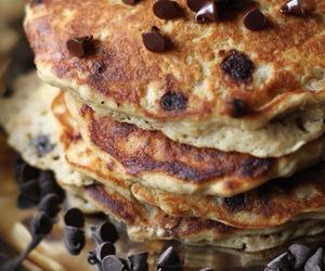 pancakes, food, and chocolate image
