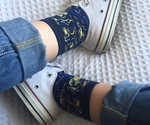 artsy, converse, and jeans image