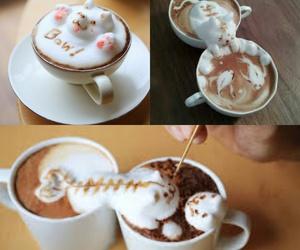 cafe, coffee, and Gatos image