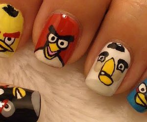 birds, nails, and angry birds image