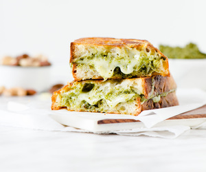cheese, gouda, and grilled cheese image