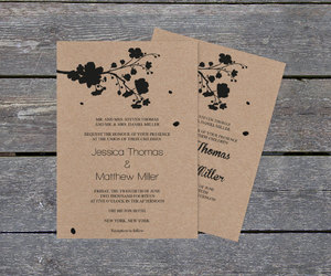 cherry blossom, printable invitation, and diy wedding template image