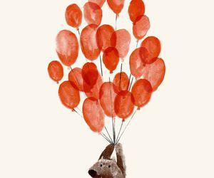 balloons, bear, and cute image