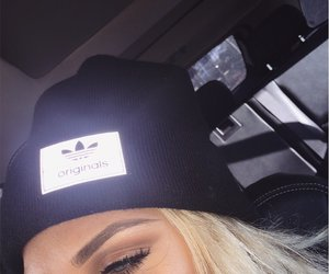 adidas, beanie, and blonde image