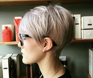 cut, hair, and pixie image