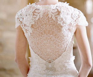beautiful, dress, and lace image